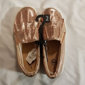 Rose Gold girls shoes size 2